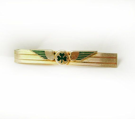 Strattons Irish Pilot Tie Clip Vintage AER by NeatstuffAntiques, $85.00