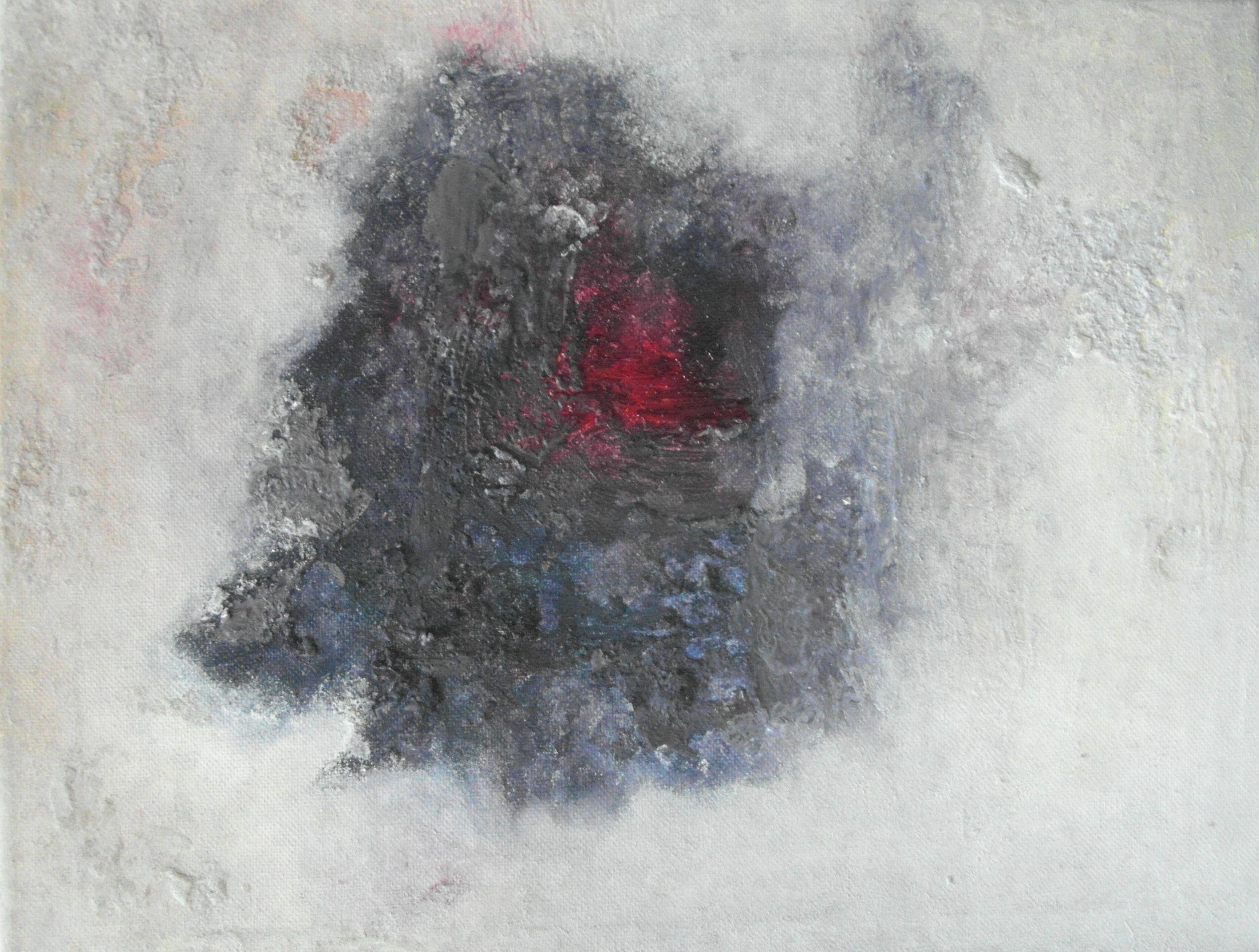 """Beholder"" Encaustic oil on stretched canvas. Julie Sumerta"