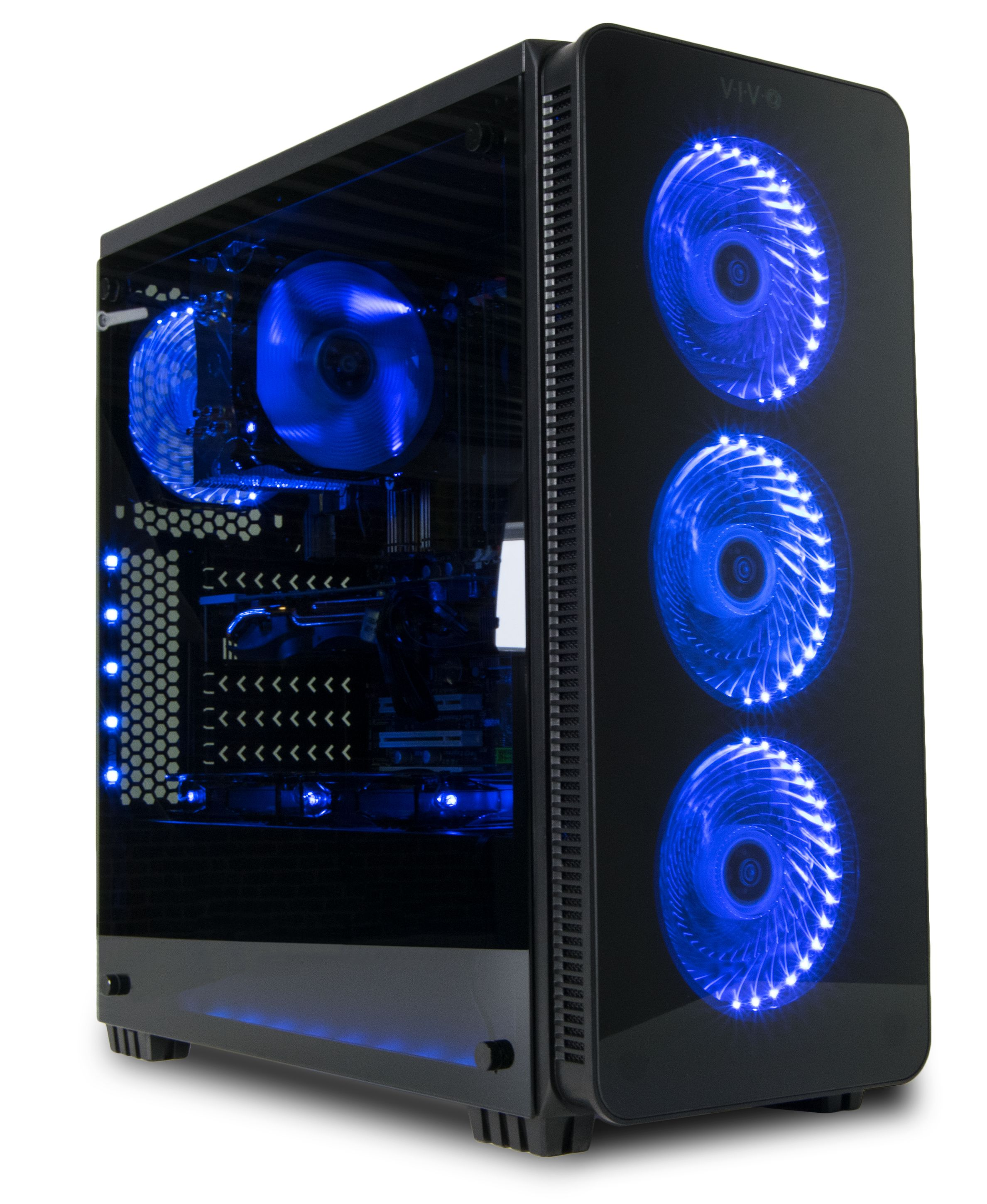 Case V08 Vivo Atx Mid Tower Computer Gaming Black Pc Case W