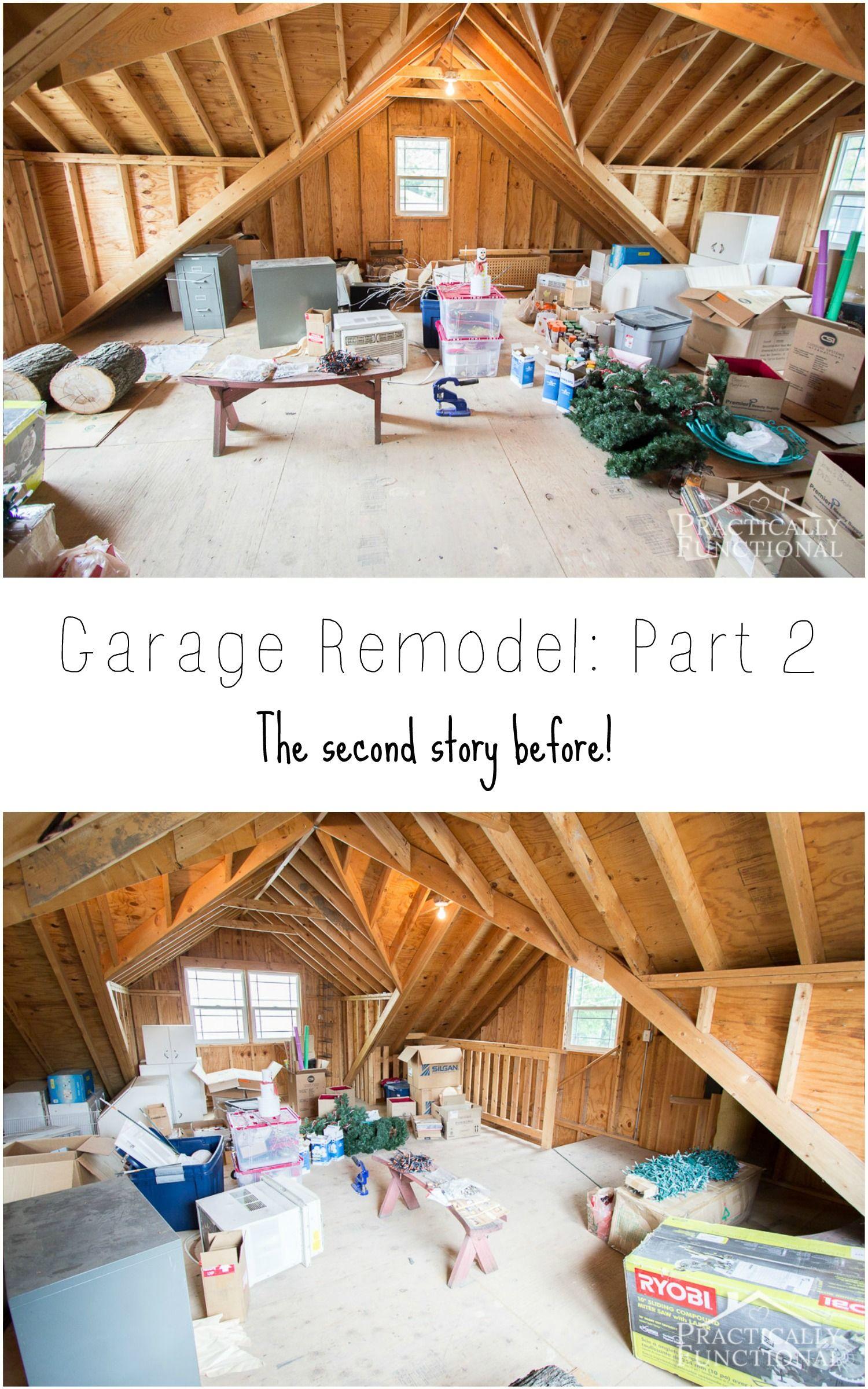 Garage Remodel Plans: The Second Story Before | Garage remodel ...