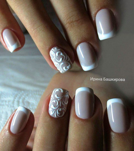 unhas decoradas francesinha 45 fotos manicure pedicures and nail decorations. Black Bedroom Furniture Sets. Home Design Ideas