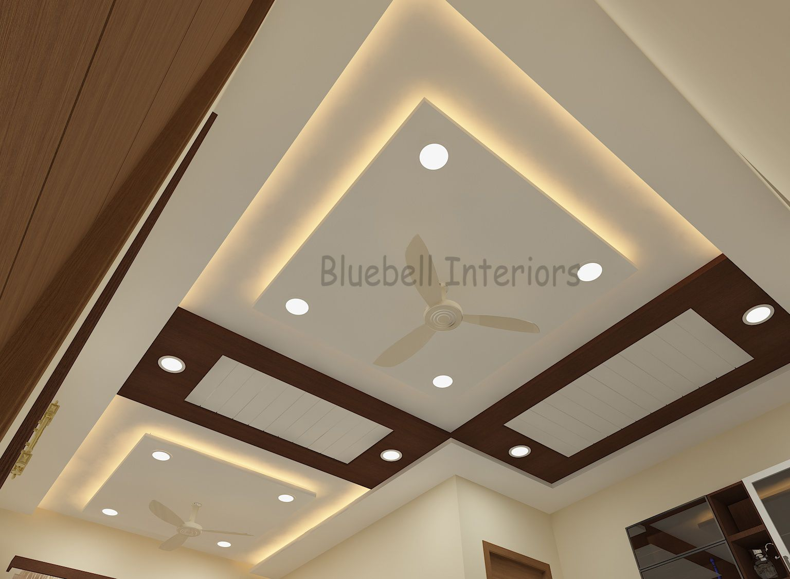 Wooden Ceiling Arranged In Such A Way That It Make A Pattern In L