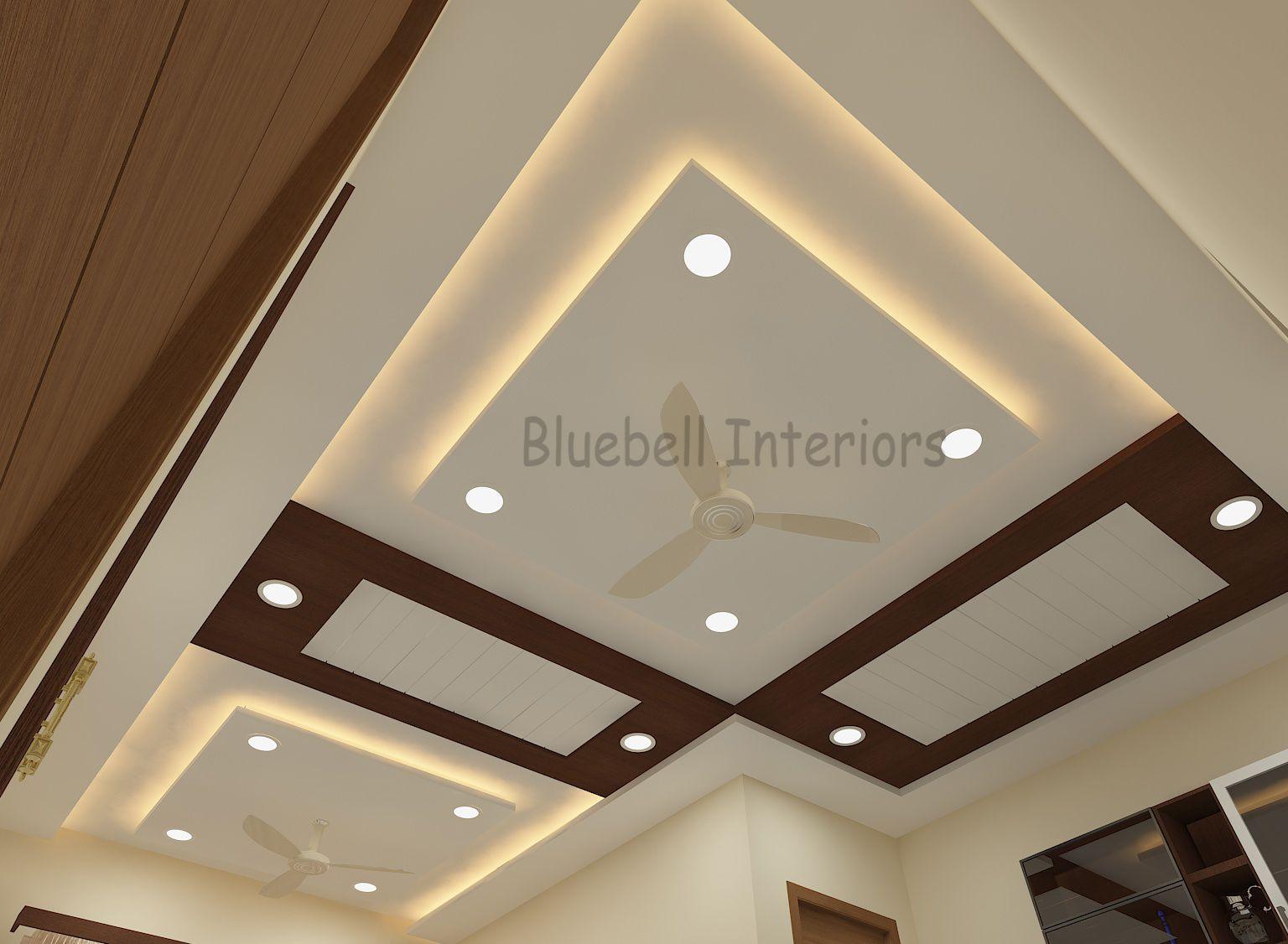 L Shape Living Room Ceiling Wooden Ceiling Ceiling Design