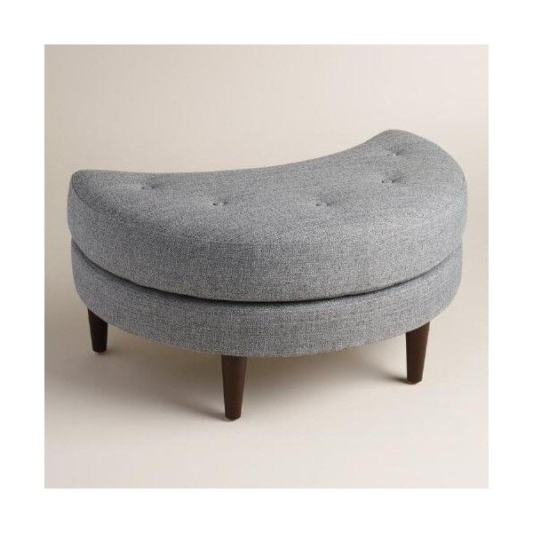 Strange Cost Plus World Market Gray Seren Half Moon Ottoman 220 Andrewgaddart Wooden Chair Designs For Living Room Andrewgaddartcom