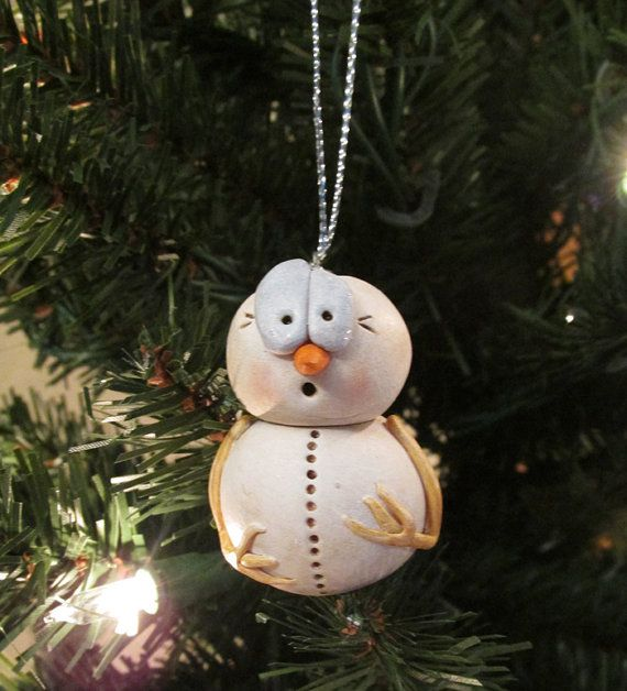 small christmas ornament creepy snowman by by janellberryman - Creepy Christmas Decorations
