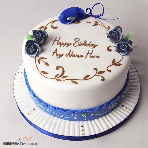 Simple Birthday Cake With Name Editing Happy birthday