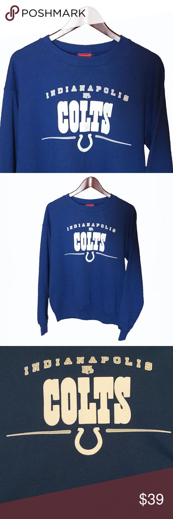 Indianapolis Colts Nfl Blue Sweatshirt Size M Blue Sweatshirt Sweatshirts Branded Sweatshirts [ 1740 x 580 Pixel ]