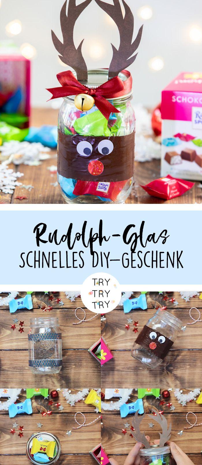 Rudolph-Schokoladen-Glas #weihnachtsdekoglas