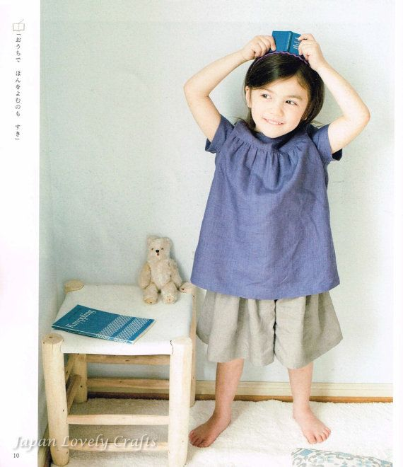 Casual Girls Clothing - Japanese Sewing Pattern Book for Kids ...