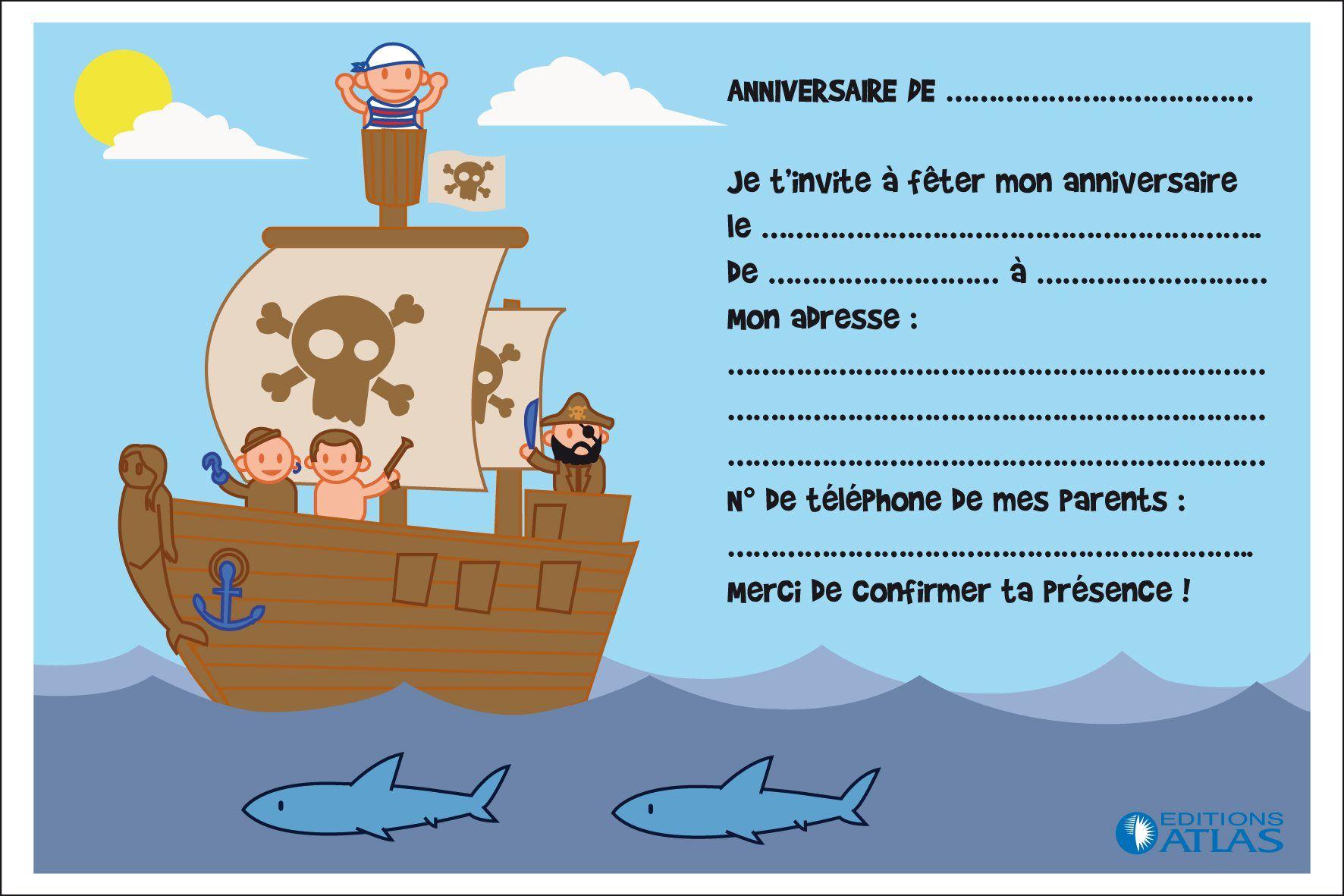 Relativ idée carte invitation anniversaire à faire soi-même | TAP  AJ38