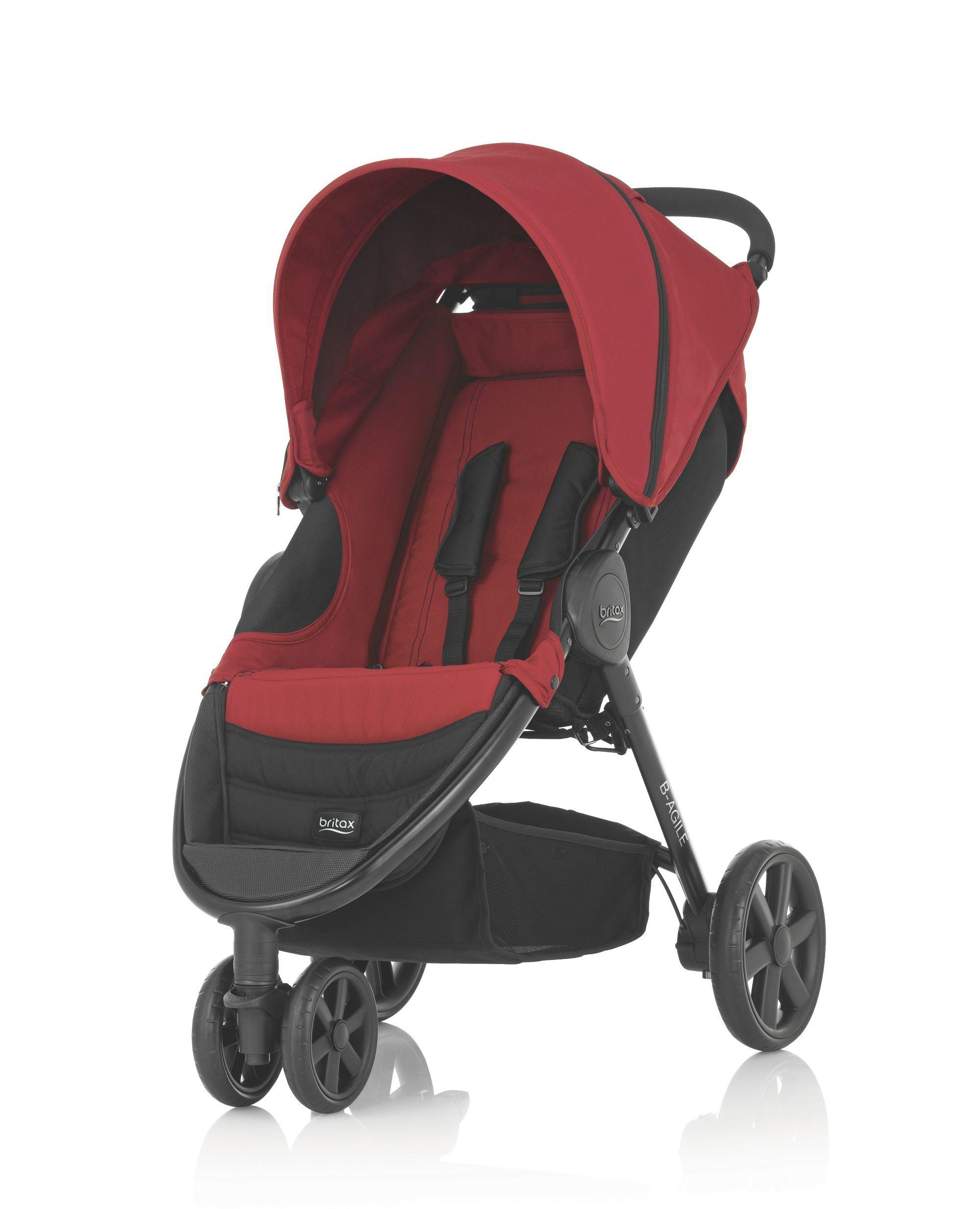 16++ Apruva stroller black and red info