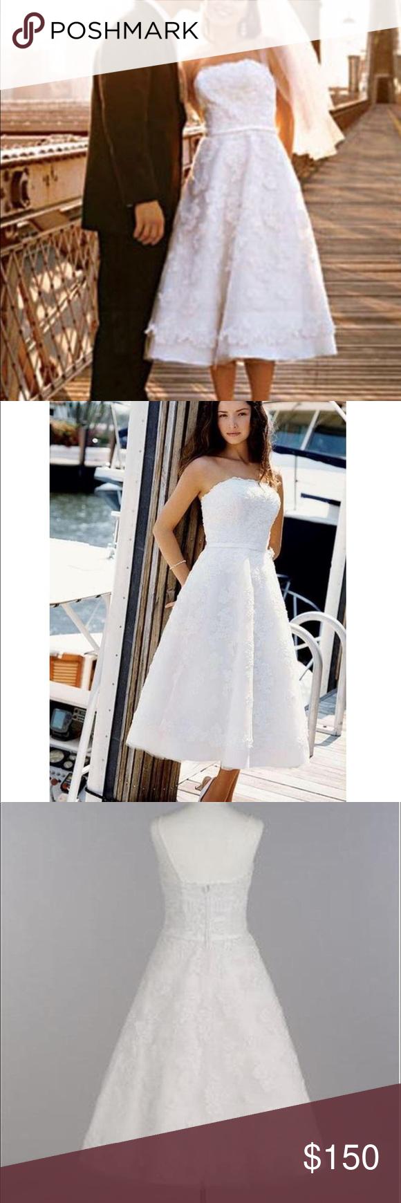 Galina David S Bridal Tea Length Wedding Dress Tea Length Wedding Dress Vintage Lace Wedding Dress Vintage Trendy Wedding Dresses [ 1740 x 580 Pixel ]