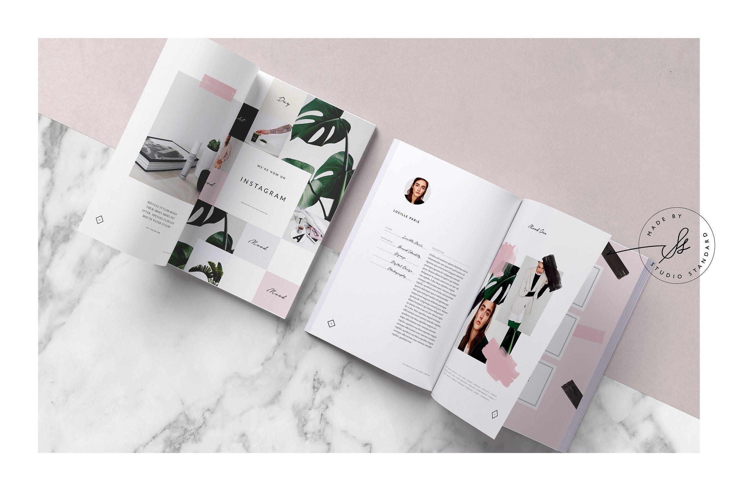 Ink Portfolio Brochure 24 Page Customizable Adobe Indesign Layout