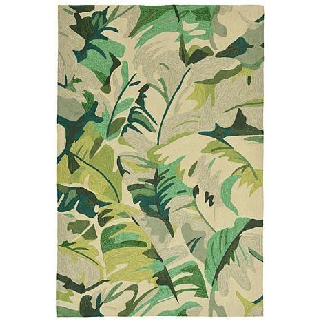 Liora Manne Palm Leaf Rug Green 10074258 Hsn Close The Door