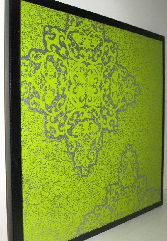 Boho Lime..Magnet Dry Erase Steel Memo Board // housewarming gift // office organizer // home decor // wall organization // desk // wall art on Etsy, $39.00