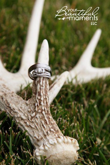 Deer Antler Wedding Decorations Wedding Rings And Deer