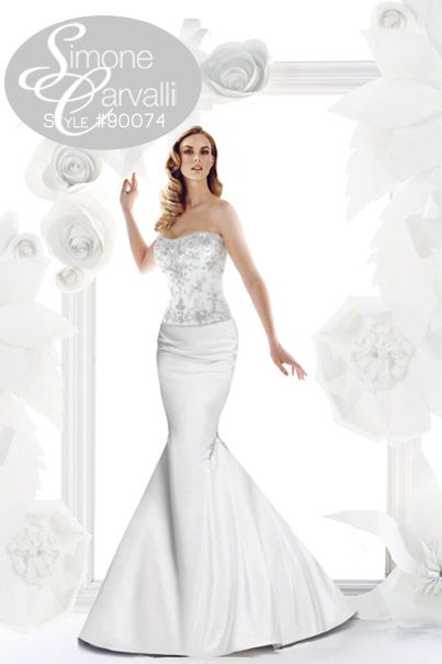 Simone Carvalli fall 2011 wedding gown, style #90074 #mermaid #bling #strapless