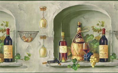 Wine Bottles Glass Grape Wallpaper Border Mural Tm75063 Grape Wallpaper Wine Painting Wine Bottle Glass