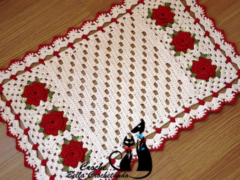 Pin De Denize Santana Em Inspiration: Tapete De Croche Em Barbante - Pesquisa Google
