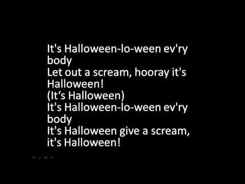 It's Halloween-lo-ween Lyrics - YouTube | holidays | Pinterest ...