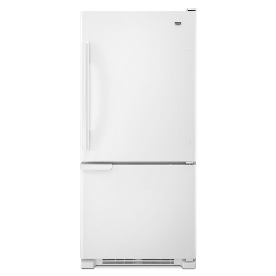Shop Maytag 18.5-cu ft Bottom-Freezer Refrigerator with Single Ice ...