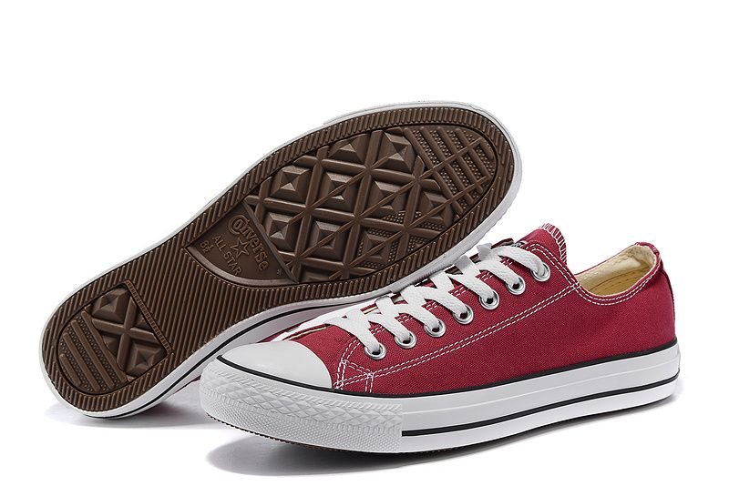 3cf14e60066d #converse Converse Wine Red Low Tops Classic Chuck Taylor All Star Womens  Shoes