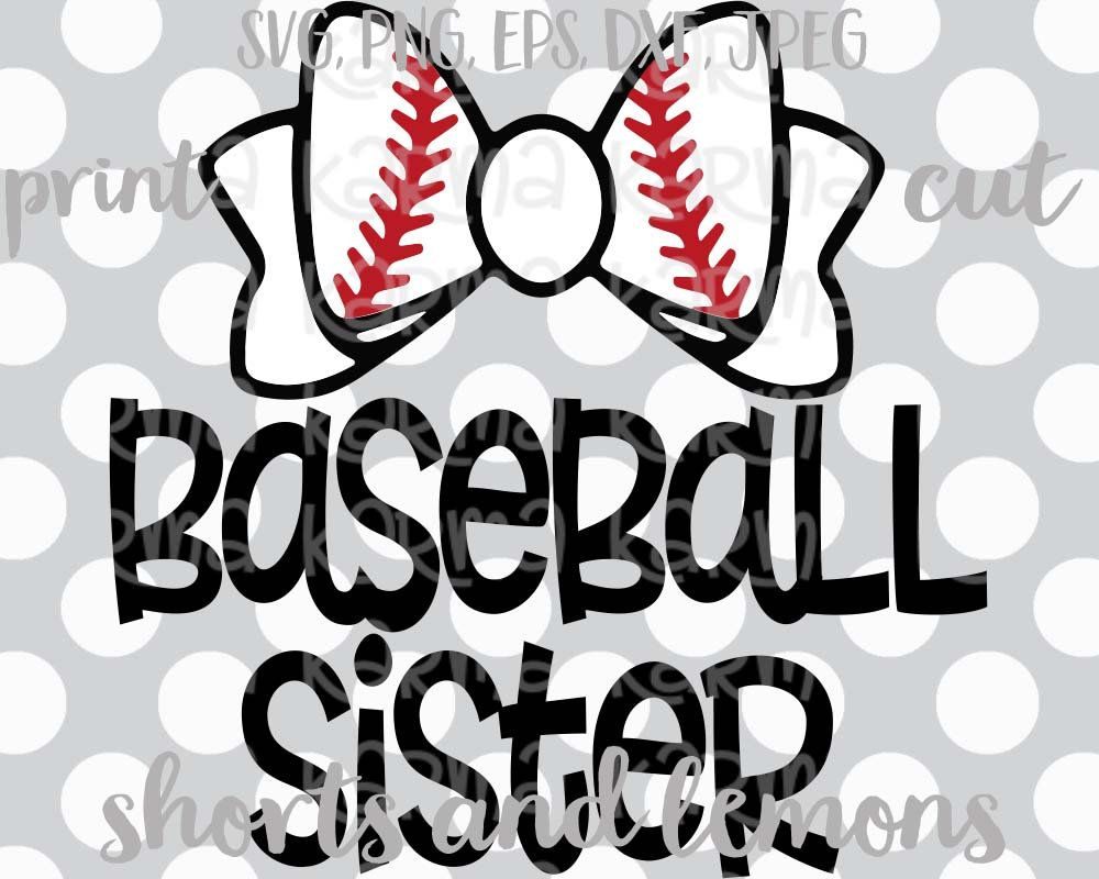 b313c5a973 Image result for baseball sister svg | Silhoutte MADNESS | Baseball ...