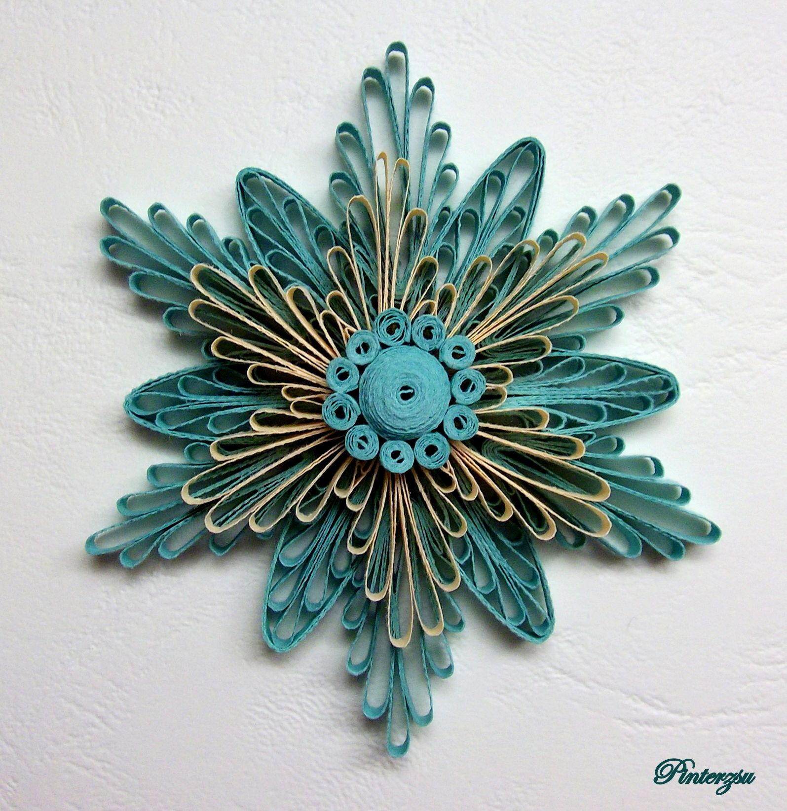 Quilled flower my works pinterest quilling flowers for Quilling paper art