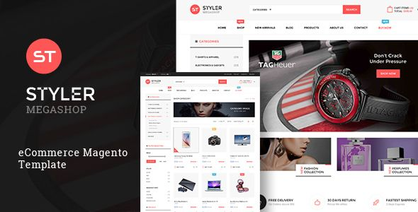 Styler Mega Shop Magento Theme Template And Website Themes