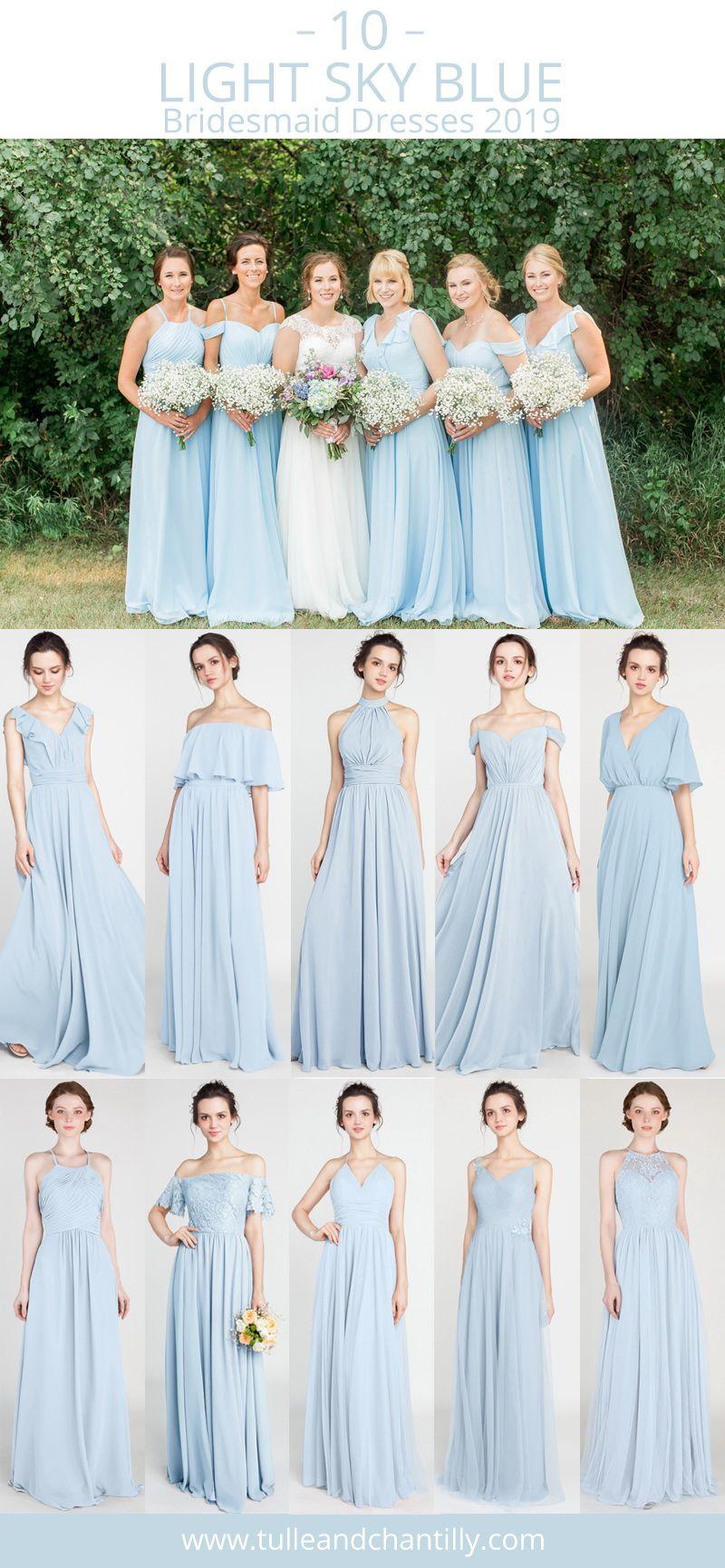 Top 10 Light Sky Blue Bridesmaid Dresses For Wedding Season 2019 Wedding Wedd Sky Blue Bridesmaid Dresses Blue Bridesmaid Dresses Short Light Blue Bridesmaid