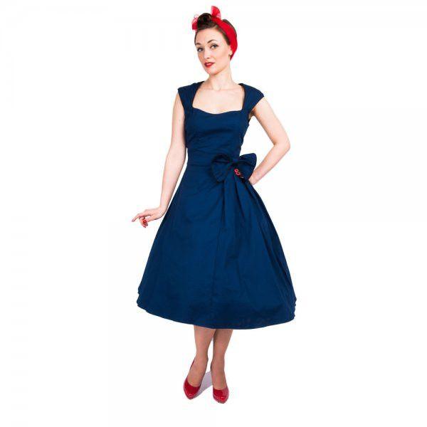 'Grace' Midnight Blue Party Dress