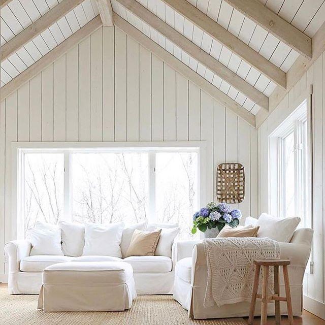 I dream of tall shiplap ceilings and beautiful beams ...