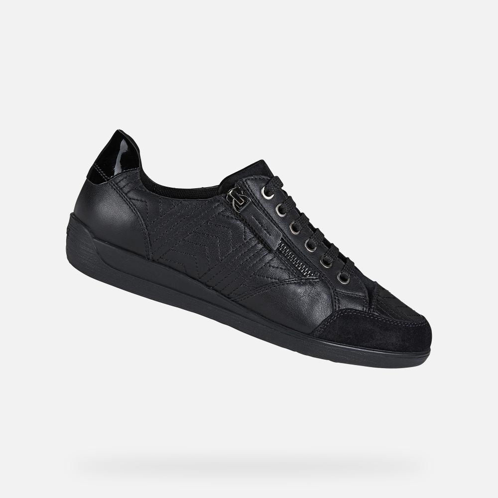 Geox Myria Woman Black Sneakers Fw20 21 Geox Black Sneakers Slip On Boots Boy Shoes