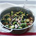 Sauteed Brussels Sprouts with Bacon and Golden Raisins Recipe - Delish