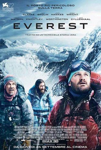 Everest (2015) DRAMMATICO – DURATA 150′ – GRAN BRETAGNA, ITALIA, USA 1996. Diverse compagnie con le loro spedizioni sfidano i limiti della natura per tentare di far scalare le cime dell'Everest agli scalatori di tutto il mondo. Mettendo alla prova il proprio coraggio e la propria resistenza, gli scalatori si troveranno ad affrontare ostacoli …