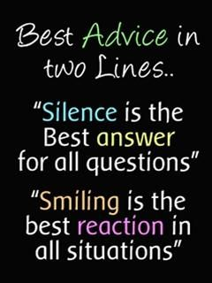 Silence Is The Best Answer For All Questionssmiling Is The Best