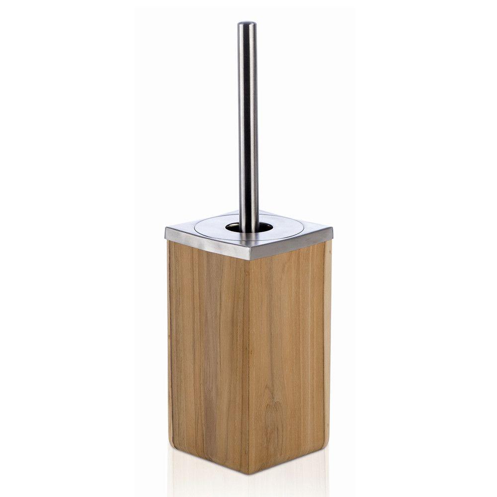 Teak Wood Toilet Brush Set From Moeve Toilet Brush Bathroom