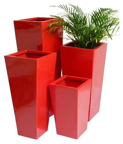 Flared Square Planter Plant Pot Ebay Uk Square Planters Planters Outdoor Planters