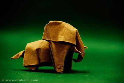 Photo of Akira Yoshizawa Origami Elefant