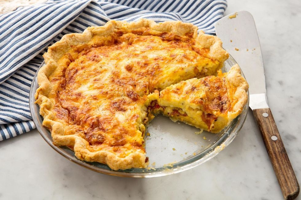 This Cheesy Bacon Quiche Will Be Demolished In Seconds At Your Holiday Brunch Recipe In 2020 Easy Easter Brunch Recipes Quiche Lorraine Recipe Lorraine Recipes