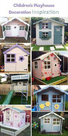 Children   playhouse decorating ideas and inspiration for girls boys buildachildrensplayhouse also rh pinterest
