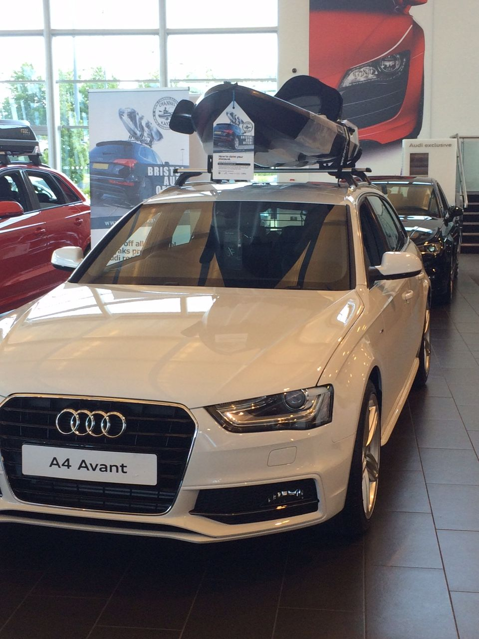 Channel kayaks bass on the A4 at Bristol Audi | Kayaks and ...