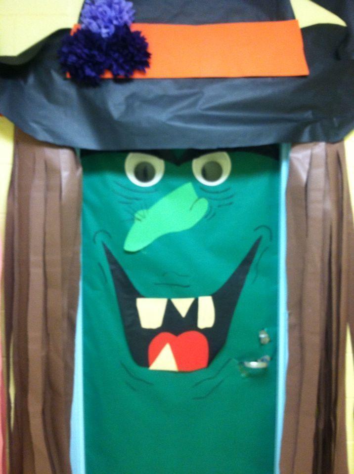 Halloween classroom door witch Halloween classroom ... Halloween classroom door witch Halloween cla