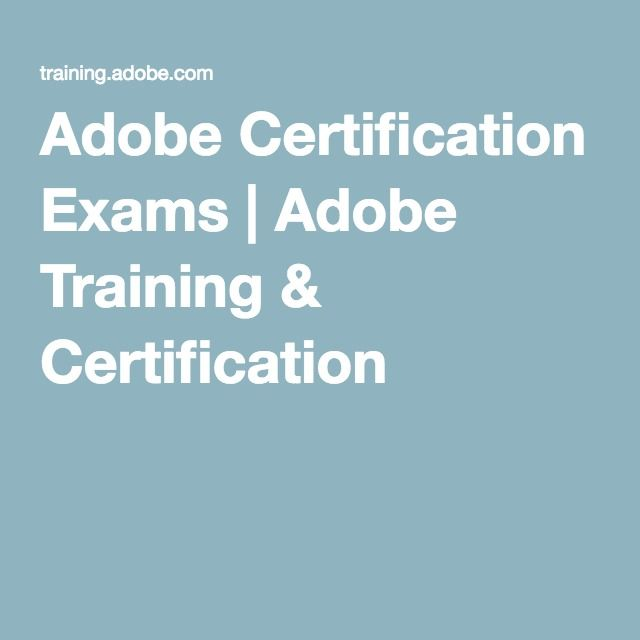 Adobe Certification Exams Adobe Training Certification Adobe