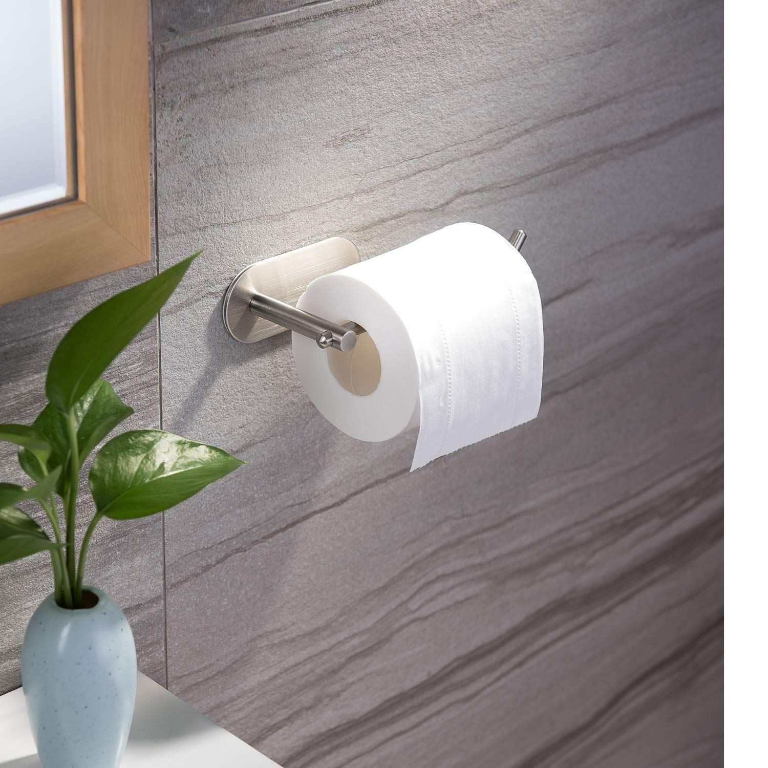 Yigii Adhesive Toilet Paper Holder Mst001 Self Adhesive Toilet Roll Holder For Bathroom Kitchen Stick On Wa Toilet Paper Holder Toilet Roll Holder Toilet Paper