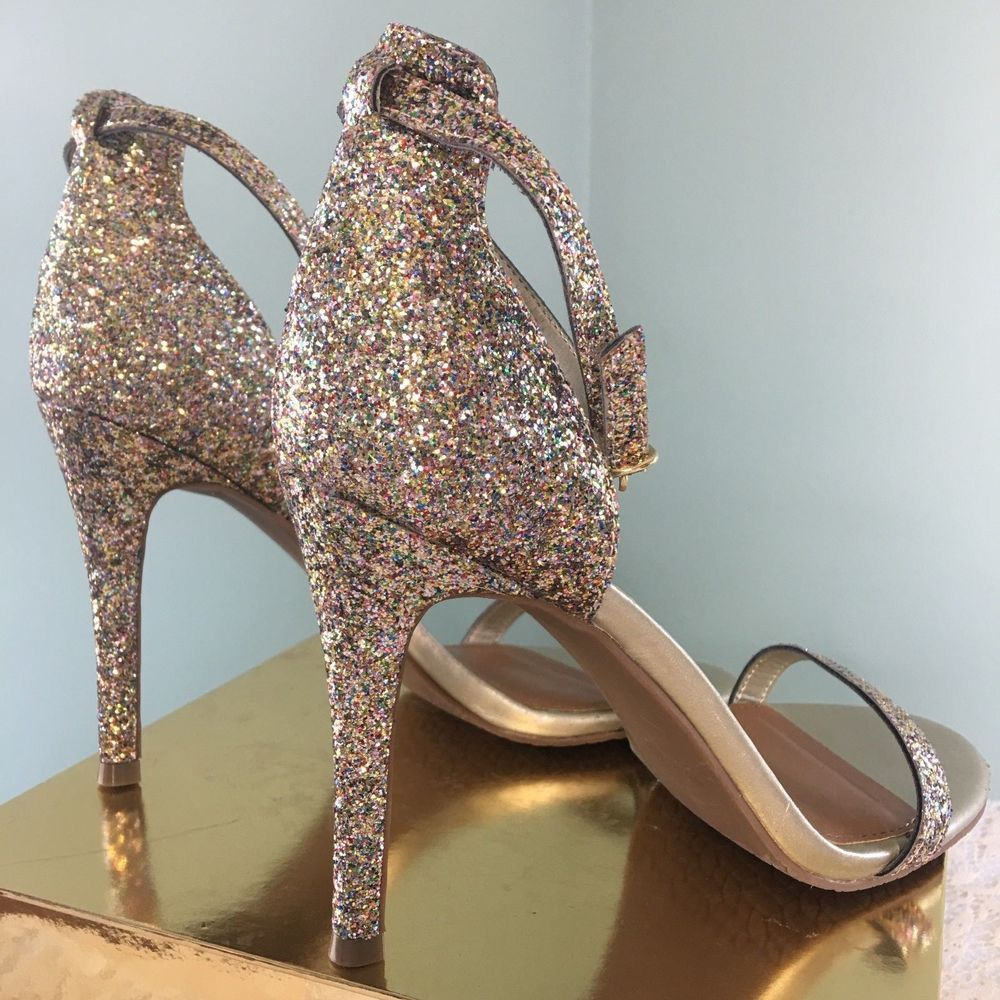 Women Golden Bronze Pumps High Heels Shoes Size 6 12 | eBay