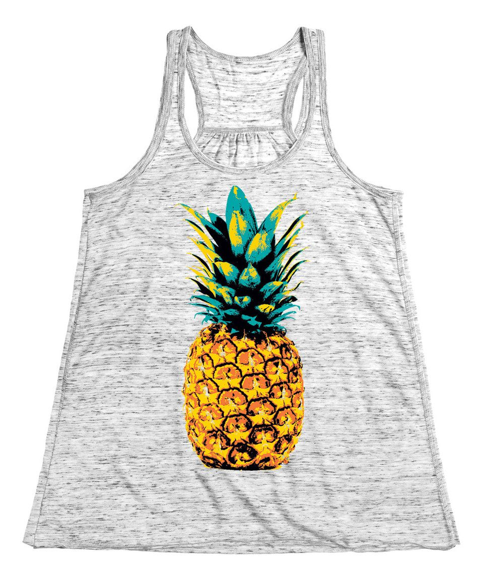 0290634b07a Board Life White Marble Pineapple Flowy Tank by Board Life  zulilyfinds