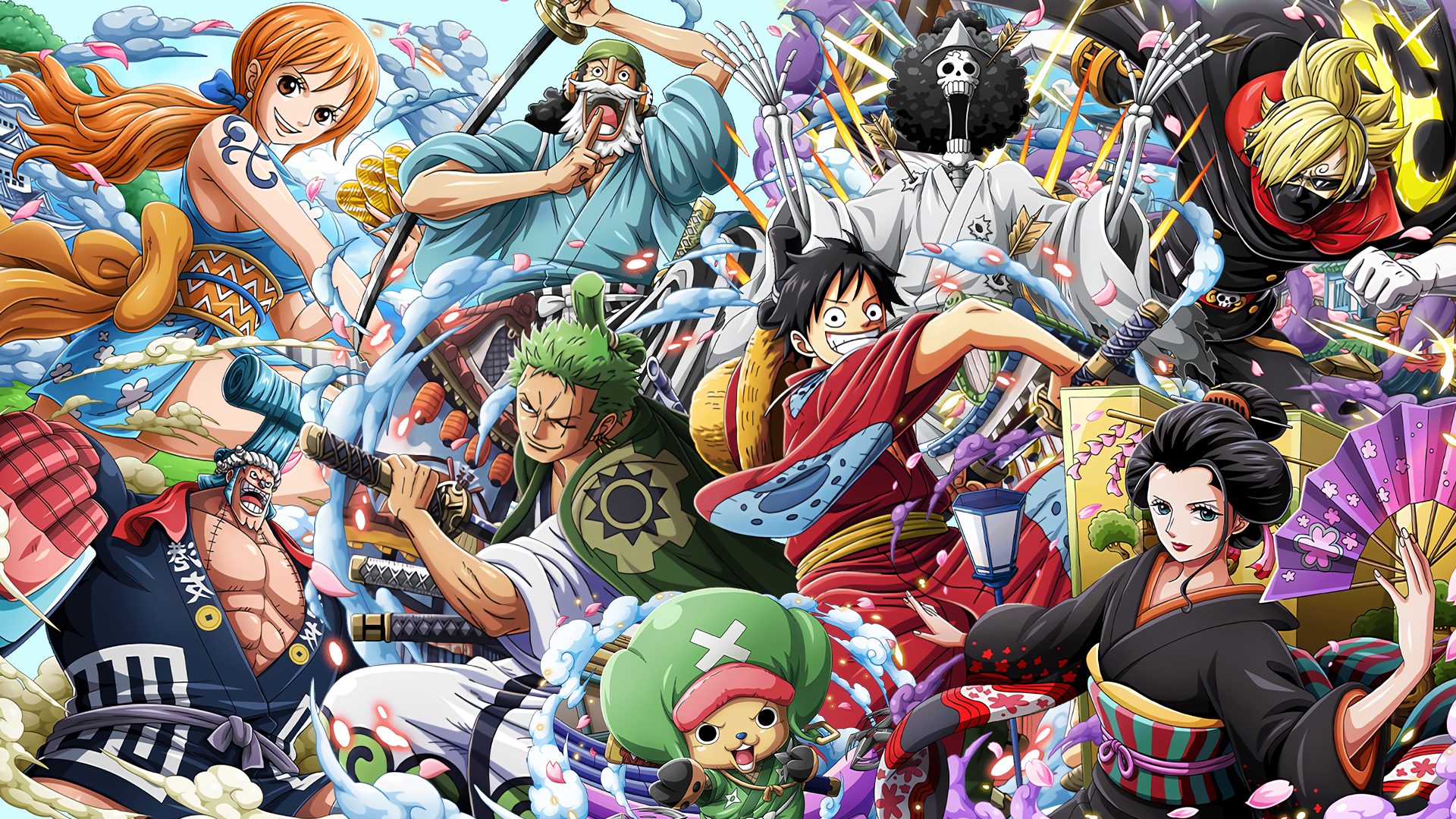 One Piece Wano Arc Desktop Wallpaper