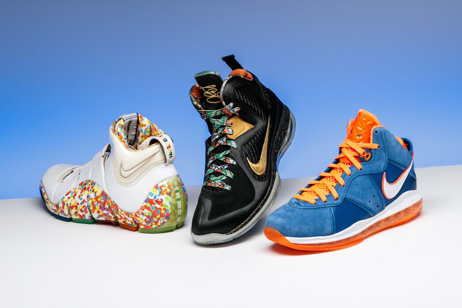 SG s curated selection of LeBron James sneakers includes these grails. f9d5a9cf8532