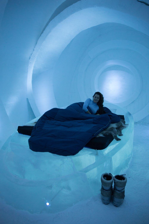 Husky Sledding & Sleeping Ice Lapland Finland